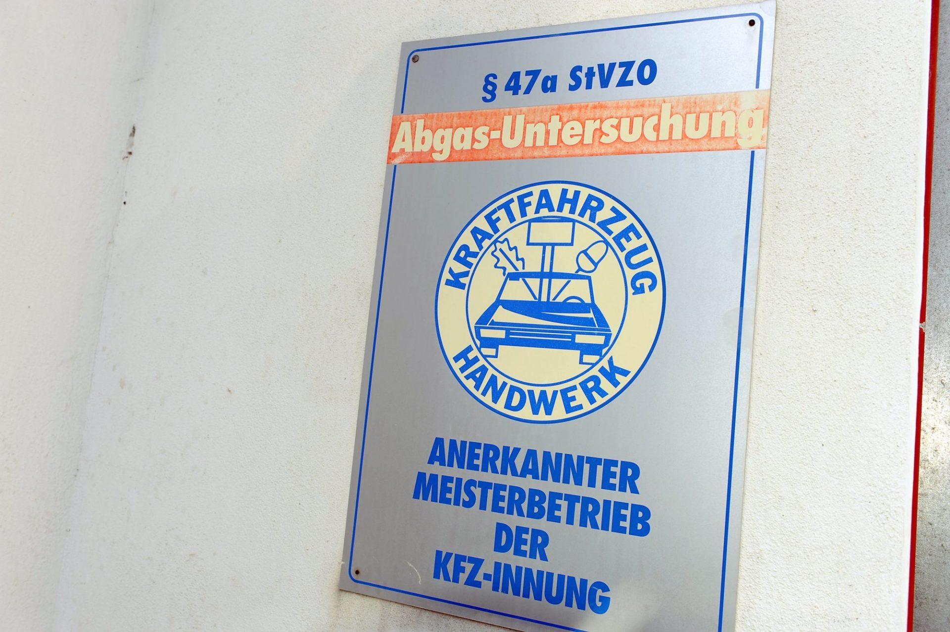 Abgas-Untersuchung nach §47aStVZO, Anerkannter Meisterbetrieb der KFZ-Innung