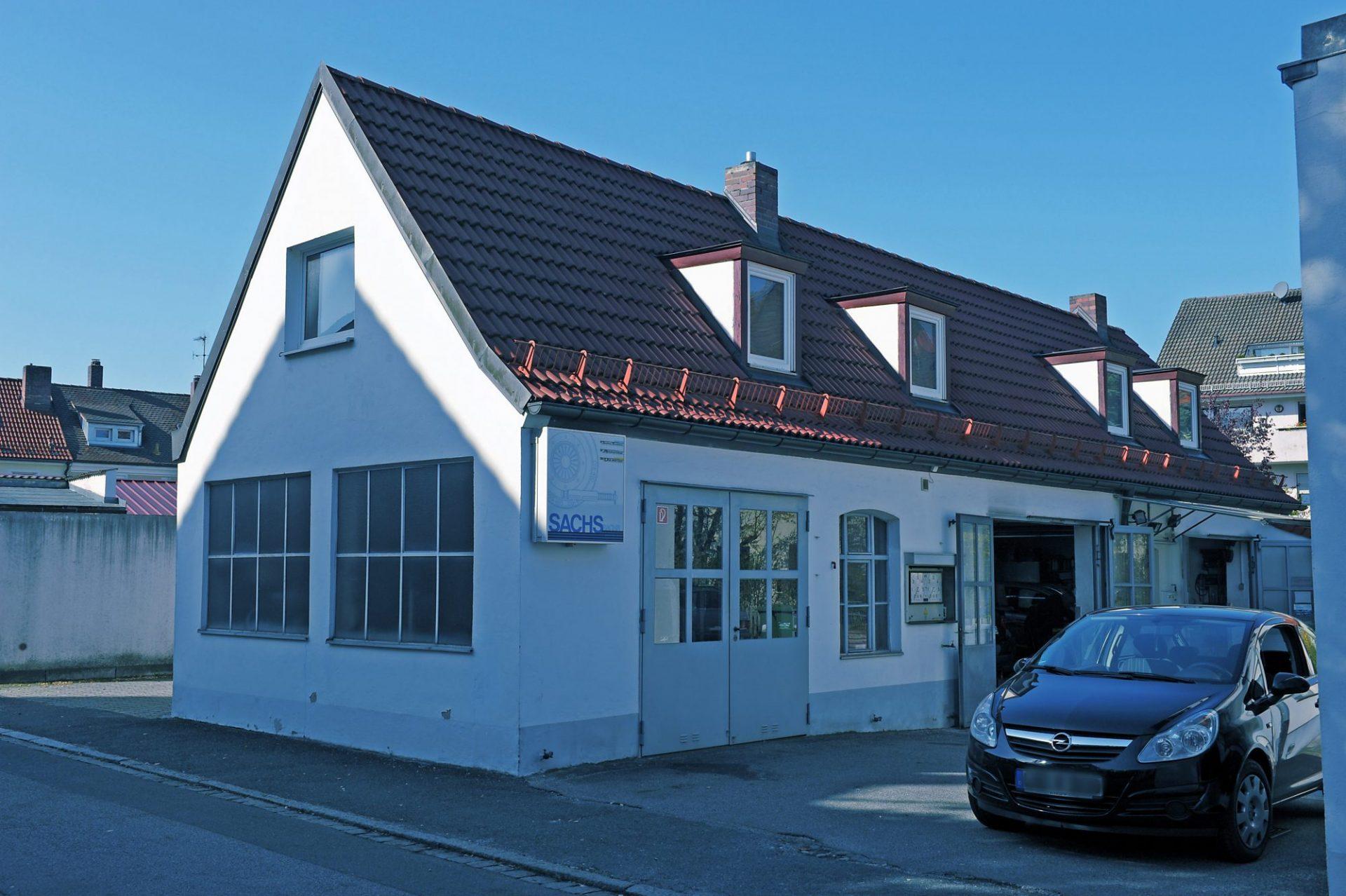 Werkstattgebäude von Auto Sluka, Röthenbach an der Pegnitz, Nürnberger Land